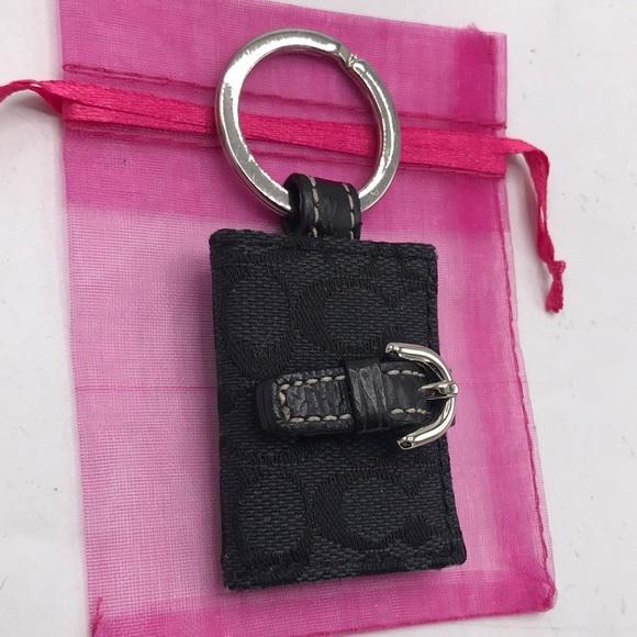 Authentic Coach Black Photo Keychain